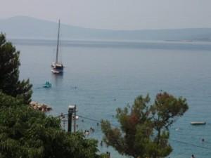 plaža - pogled sa balkona kuće