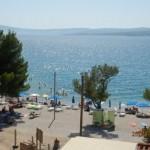 plaža - pogled sa balkona